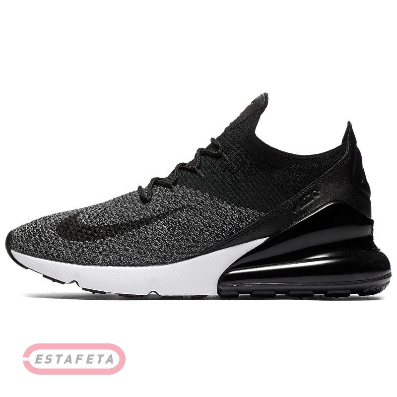 Nike Schuhe – Air Max 270 Flyknit SchwarzWeißKohlenstoff