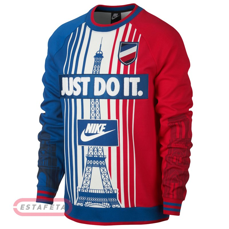Футболка с длин.рук NIKE M NSW CREW PARIS SSNL