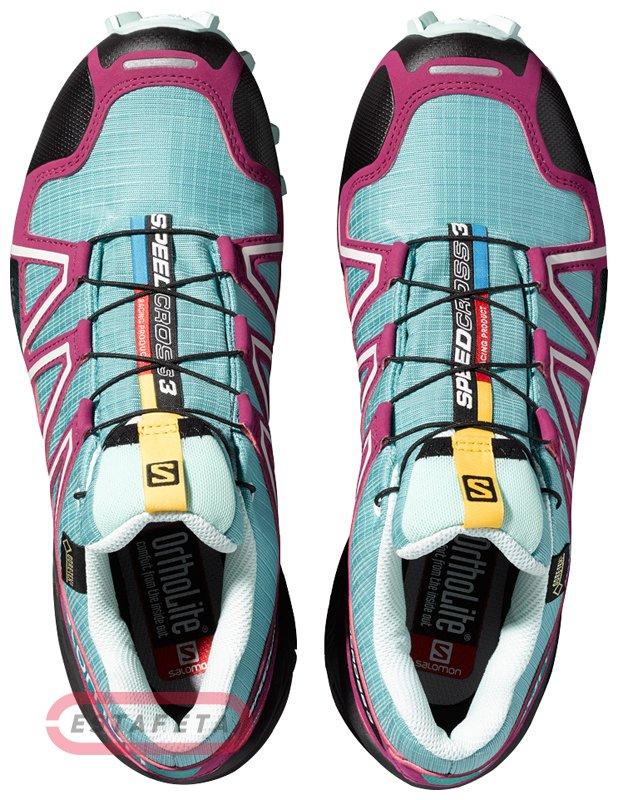 000453cb6e86 Кроссовки для бега Salomon SPEEDCROSS 3 GTX® W OPALINE BL BL FW15-16 ...