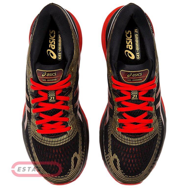 0e9252d933e Кроссовки для бега Asics GEL-NIMBUS 21 BLK RED M SS19 1011A257-001 ...