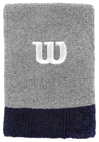 ���������� WILSON Extra Wide Wristband Grey/NAVY SS16