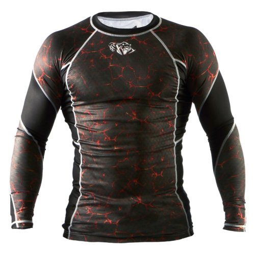Футболка с длинным рукавом Peresvit Immortal Silver Force Rashguard Long Sleeve Lava