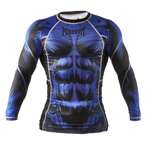 Футболка с длинным рукавом Peresvit Beast Silver Force Rashguard Long Sleeve Blue