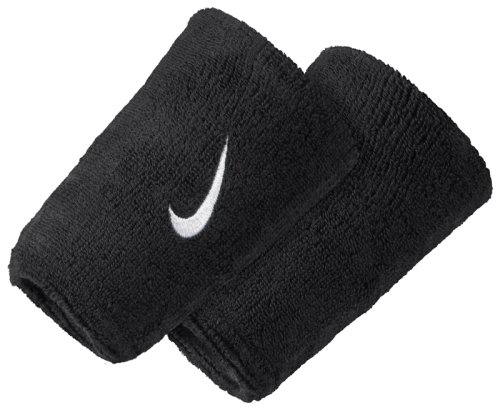 Напульсник Nike SWOOSH DOUBLEWIDE WRISTBANDS BLACK/WHITE