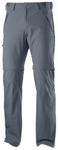 Брюки Salomon WAYFARER ZIP PANT M DARK CLOUD SS15