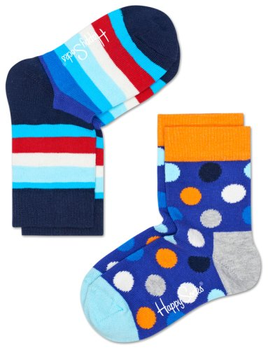 Носки HAPPY SOCKS 2-PACK STRIPE SOCKS