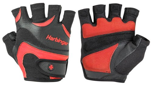 Перчатки мужские HARBINGER Mens FlexFit W&D - Black/Red