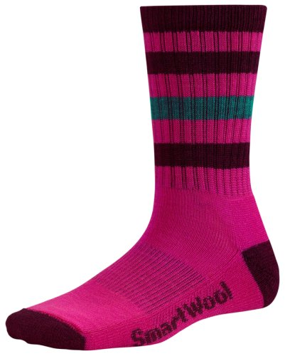 Носки SMARTWOOL Women's Striped Hike Light Crew bright pink