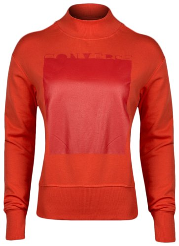 Толстовка Converse RUBBER MOCK NECK SWTSHIRT SIGNAL RED