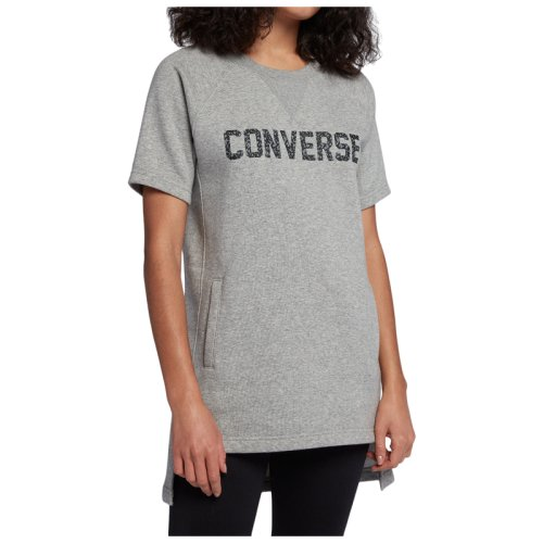 Платье Converse SPECKLED GRAPHIC SS SWEATSHIRT DRESS BLK