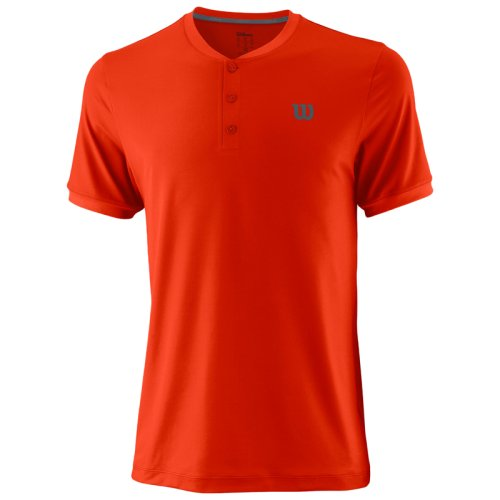Футболка Wilson m UWII HENLEY ORANGE SS18
