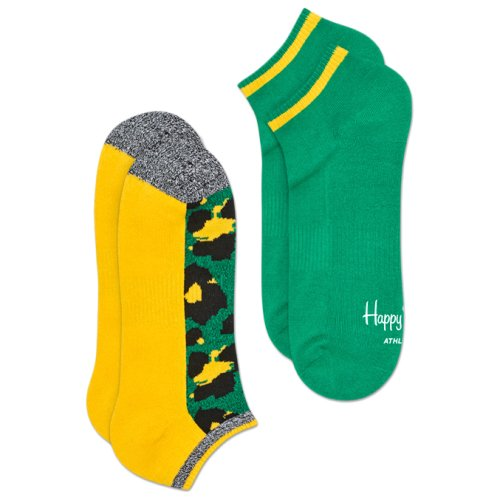 Носки Happy Socks 2-Pack Athletic Leopard Low Sock