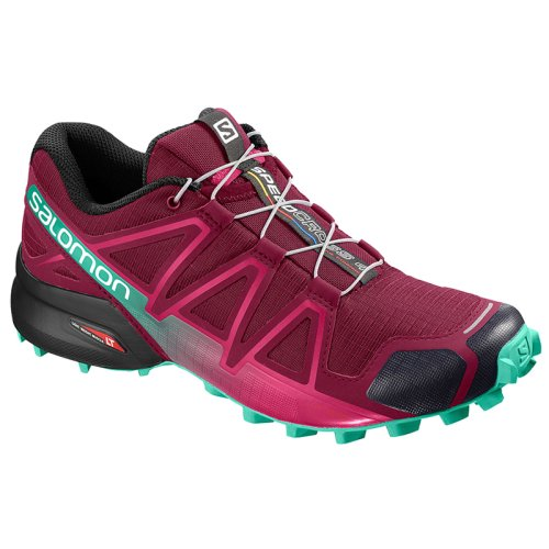 Кроссовки для бега Salomon SPEEDCROSS 4 W Beet Red/Electric G SS19