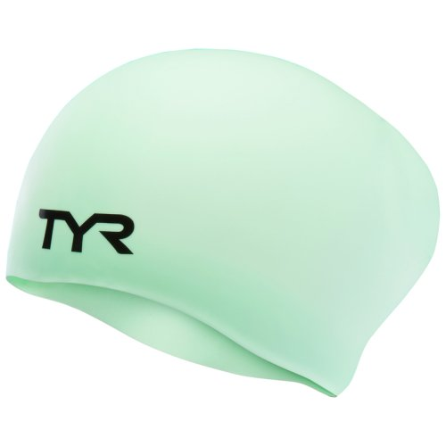 Шапочка для плавания TYR LONG HAIR SILCON CAP MINT