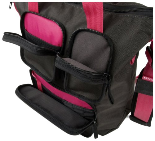 Сумка CRUMPLER The Condo Tote grey black/deep pink