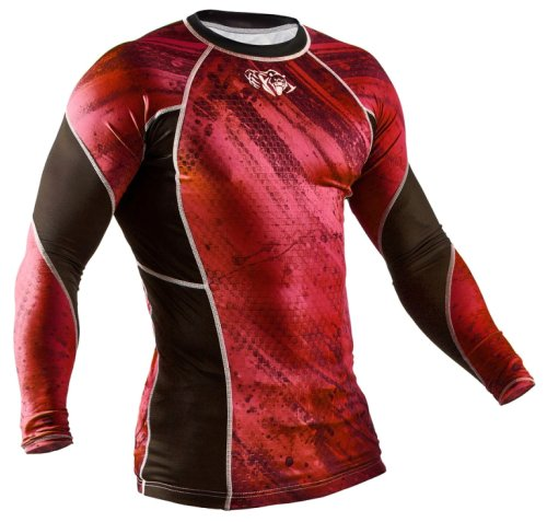 Футболка Peresvit Immortal Silver Force Rashguard Long Sleeve Red Burn